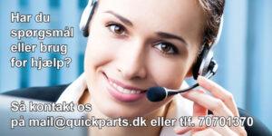 Spørgsmål? Kontakt Quickparts kundeservice